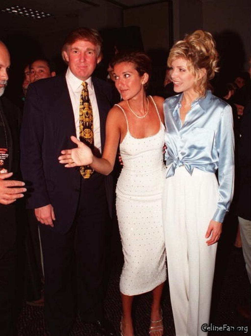 Une ancienne photo de Céline Dion et Donald Trump crée la polémique sur la toile...(Photo-vidéo)
