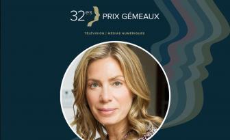 Céline Bonnier et son haut transparent font beaucoup jaser au Gala des Gémeaux!