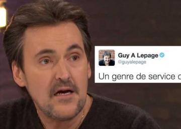 Guy A. Lepage se fâche sur Twitter mais... Oups!