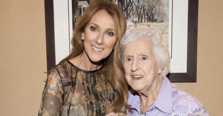 Maman Dion a 90 ans aujourd'hui... Et Céline le souligne de belle façon avec ses fils!