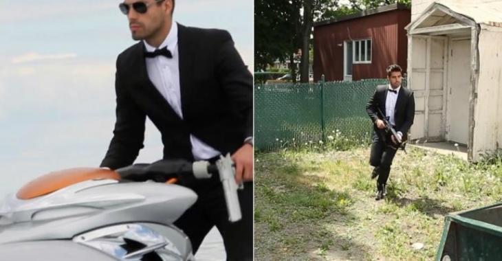 Un québécois arrive à son mariage en vrai James Bond, sa femme n'en croit pas ses yeux!
