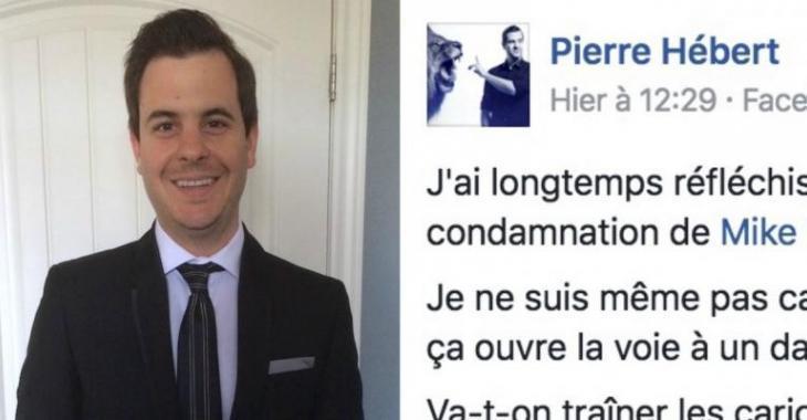 Pierre Hébert fait une importante sortie concernant la controverse de Mike Ward