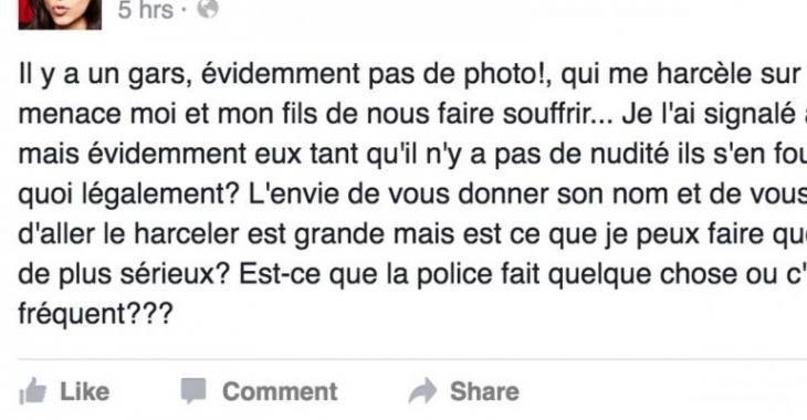 Une populaire animatrice québécoise et son fils victimes de menaces violentes sur les réseaux sociaux...
