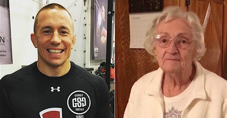 La grand-mère de George St-Pierre a 92 ans... Elle nous donne le secret de sa longévité!