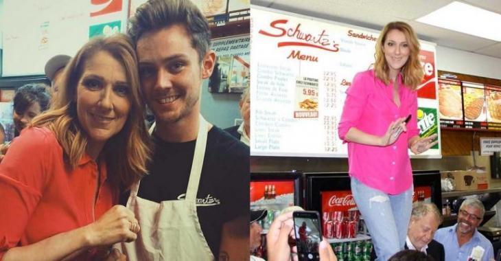 Céline Dion prouve une fois de plus sa grande générosité en faisant un cadeau aux clients du Schwartz's!