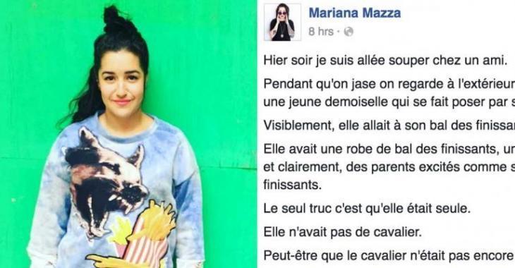 Mariana Mazza s'invite dans les photos de bal des finissants d'une inconnue... elle fait sa journée!