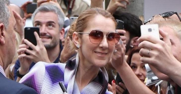 Céline Dion porte une robe époustouflante à son départ de Paris...