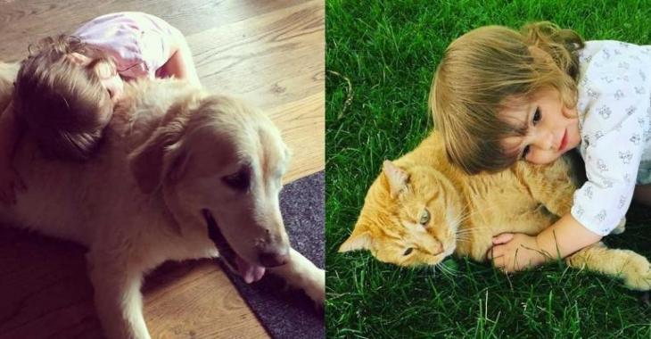 La fille de ce couple de stars québécoises est en amour avec les animaux!