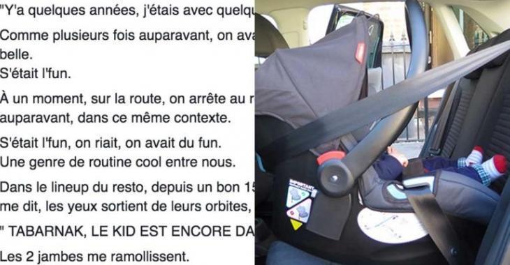 Le témoignage d'un Québécois qui a oublié un enfant dans la voiture devient viral!