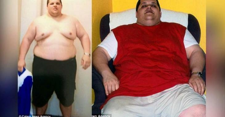 Il mangeait 15 000 calories par jour... 10 mois plus tard, il ne ressemble plus du tout à ça!