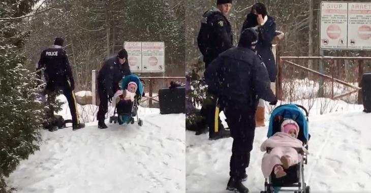 Des images bouleversantes à la frontière Québec-États-Unis