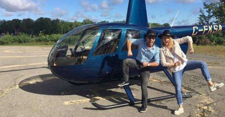Après le terrible événement, Mitsou monte en hélicoptère pour se rendre à St-Tite