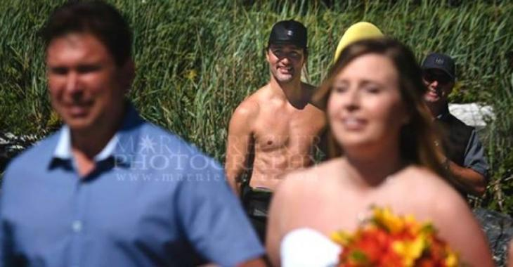 Torse nu, Justin Trudeau vole la vedette à la mariée lors d'un mariage!