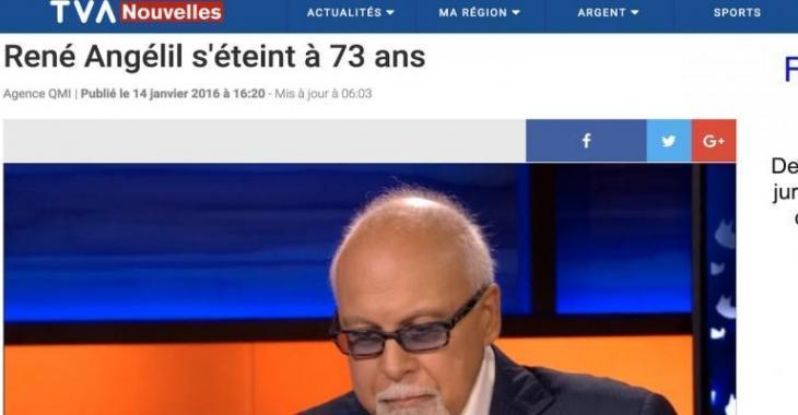 TVA Nouvelles avait préparé d'avance la mort de René Angélil