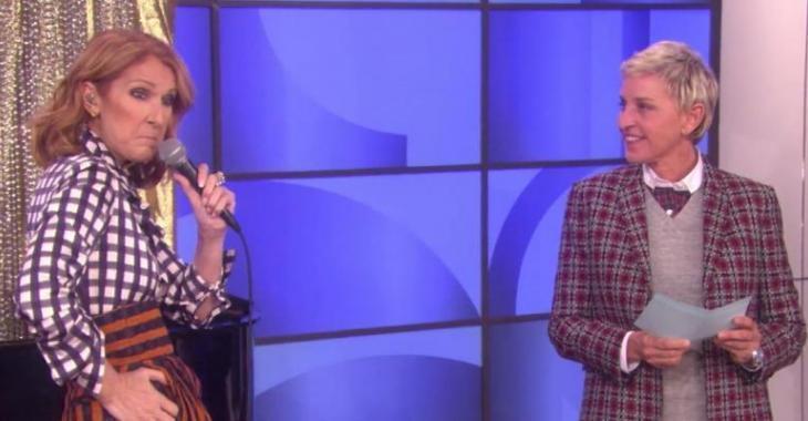 Céline Dion fait quelque chose de très inattendu en direct à la télé!