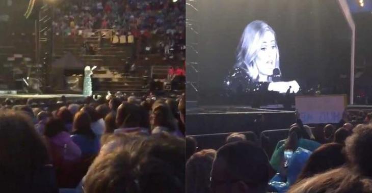 [VIDÉO]Adele se met en colère après une fan en plein concert!