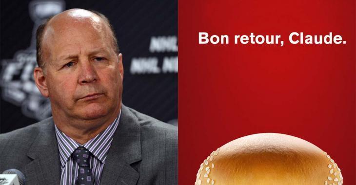 McDonald's souligne le retour de Claude Julien d'hilarante façon!