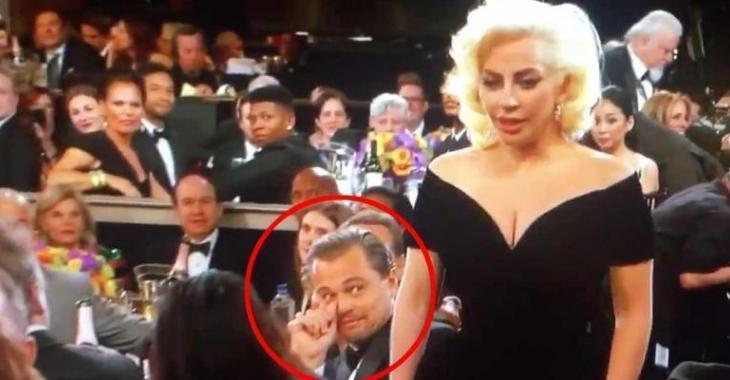 La réaction de Leonardo DiCaprio à la victoire de Lady Gaga n'a pas de prix!