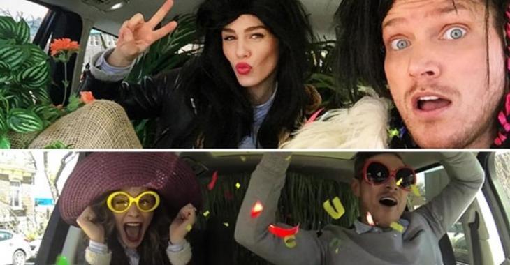 Maripier Morin et PO Beaudoin enflamment le web avec un carpool karaoké endiablé!