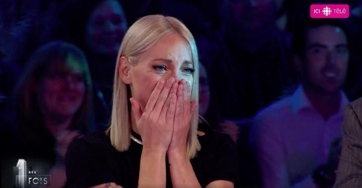 Marie-Mai explose en larmes sur le plateau de 1res fois