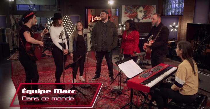 Les candidats de l'équipe de Marc Dupré surprennent leur coach en interprétant une de ses chansons