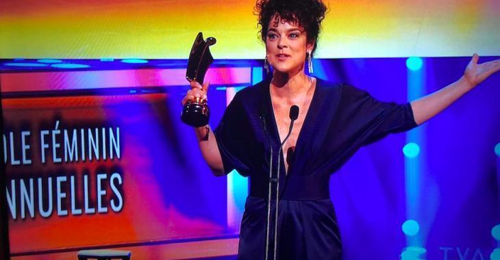 Hélène Bourgeois-Leclerc remporte un trophée Artis et prononce le plus beau discours de la soirée