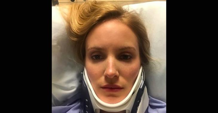 DERNIÈRE HEURE: Charlotte Legault est partie en ambulance après un accident sur un plateau de tournage