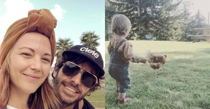 Une vidéo beaucoup trop cute de la fille d'Alex Nevsky et Vanessa Pilon fait fureur sur le web