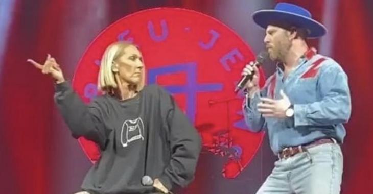À VOIR: Céline Dion enfile son coton ouaté au Centre Bell et chante avec le groupe Bleu Jeans Bleu