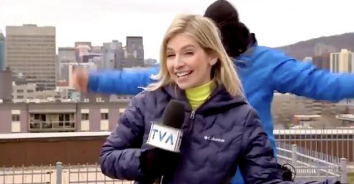 Stéphanie Villeneuve de Salut Bonjour se déchaîne pendant la pause contre la météo froide