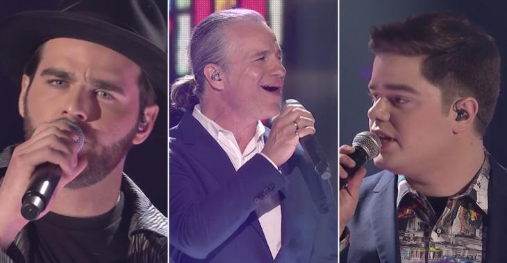 Guillaume et Jacob nous offrent le moment le plus fort de la soirée, en trio avec Bruno Pelletier