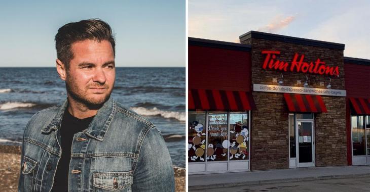Wilfred Le Bouthillier partage une vidéo d'un Tim Hortons en Acadie et ça devient viral!